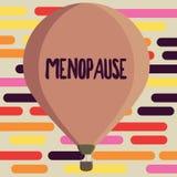 Teksta szyldowy pokazuje przekwitanie Konceptualny fotografii zaprzestanie miesiączek Starych kobiet hormonalnych zmian okres ilustracji