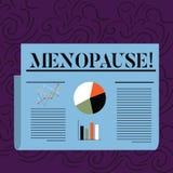 Teksta szyldowy pokazuje przekwitanie Konceptualny fotografii zaprzestanie miesiączek Starych kobiet hormonalnych zmian okres Kol ilustracja wektor