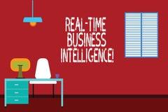Teksta szyldowy pokazuje Rzeczywisty business intelligence Konceptualna fotografii informacja o działalności gospodarczej Work Sp ilustracja wektor