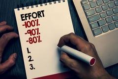 Teksta szyldowy pokazuje wysiłek 100 90 80 Konceptualna fotografia Równa determinaci dyscypliny motywaci Pisać słowa i liczba na  zdjęcia royalty free