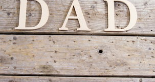 Teksta tata na drewnianej desce zdjęcie wideo