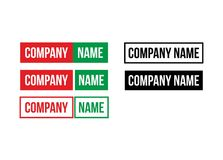 Teksta tylko logo Obraz Stock