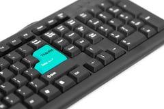 Teksta uraz na klawiatura znaku dla ciężkiej pracy zdjęcie royalty free