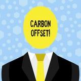 Teksta węgla szyldowa pokazuje odsadzka Konceptualna fotografii redukcja w emisjach dwutlenek węgla lub inni gazy ilustracja wektor