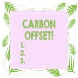 Teksta w?gla szyldowa pokazuje odsadzka Konceptualna fotografii redukcja w emisjach dwutlenek w?gla lub inni gazy royalty ilustracja