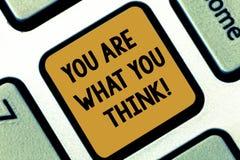Teksta znak pokazuje Ciebie Jest Co Myśleć Ty Konceptualna fotografia Twój jaźni opinia jest czym projektujesz inny Klawiaturoweg obrazy royalty free