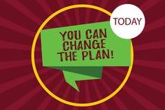 Teksta znak pokazuje Ciebie Może Zmieniać plan Konceptualna fotografia Robi zmianom w twój planach osiągać cel Składającego 3D ilustracji