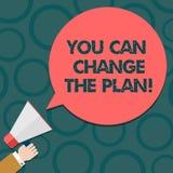 Teksta znak pokazuje Ciebie Może Zmieniać plan Konceptualna fotografia Robi zmianom w twój planach osiągać celu Hu analizę ilustracji
