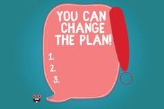 Teksta znak pokazuje Ciebie Może Zmieniać plan Konceptualna fotografia Robi zmianom w twój planach osiągać celu Pustego kolor royalty ilustracja