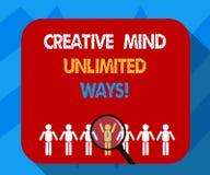Teksta znak pokazuje Kreatywnie umysłowi Nieograniczonych sposoby Konceptualna fotografii twórczość przynosi udziały możliwości P royalty ilustracja