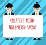 Teksta znak pokazuje Kreatywnie umysłowi Nieograniczonych sposoby Konceptualna fotografii twórczość przynosi udziały możliwości M ilustracji