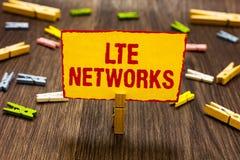Teksta znak pokazuje Lte sieci Konceptualnej fotografii sieci Szybki związek dostępny dla bezprzewodowego komunikacyjnego Clothes obrazy stock