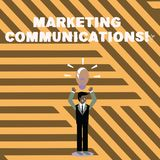 Teksta znak pokazuje Marketingowe komunikacje E ilustracja wektor