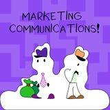 Teksta znak pokazuje Marketingowe komunikacje Konceptualnej fotografii Reklamowy Osobisty sprzedawanie i sprzedaży promocji posta ilustracja wektor