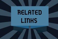 Teksta znak pokazuje Odnosić sie połączenia Konceptualna fotografii strona internetowa wśrodku Webpage krzyża - odnosi się Hotlin ilustracja wektor