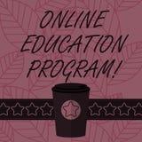Teksta znak pokazuje Online program edukacyjnego Konceptualnej fotografii Dystansowy uczenie który polega na interneta 3D kawie I ilustracji