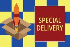 Teksta znak pokazuje Specjaln? dostaw? Konceptualna fotografia dostaje produkty lub usługi bezpośrednio twój dom jakaś miejsce og ilustracja wektor
