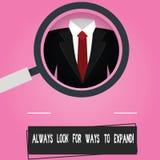 Teksta znak pokazuje Zawsze Szuka sposoby Rozszerzać Konceptualni fotografii gmerania sposoby dla rozszerzać twój biznesowy Powię ilustracji