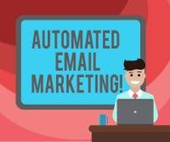 Teksta znaka emaila seans Automatyzujący marketing Konceptualny fotografia email wysyłał automatycznie lista Granicząca pokazywać ilustracja wektor
