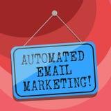 Teksta znaka emaila seans Automatyzujący marketing Konceptualny fotografia email wysyłał automatycznie lista pokazywać Pustego ob ilustracja wektor