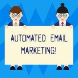 Teksta znaka emaila seans Automatyzujący marketing Konceptualny fotografia email wysyłał automatycznie lista pokazywać samiec i ilustracja wektor