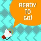 Teksta znaka pokazywać Przygotowywam Iść Konceptualna fotografia Jest tobą przygotowywającym dla przyszłościowego podróży wyciecz ilustracja wektor