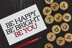 Teksta znaka pokazywać Był Szczęśliwy Był Jaskrawy Był Tobą Konceptualnej fotografii dufności dobra postawa cieszy się rozochocon fotografia stock