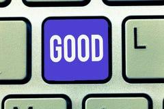 Teksta znaka pokazywać Dobry Konceptualna fotografia Odpowiednia pewny purpose Wyraża zatwierdzenie pokazuje dobroć zdjęcie royalty free