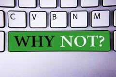 Teksta znaka seans Dlaczego Nie pytanie Konceptualna fotografia Daje ja powód dla no robić coś no mówić nie pojęcie Dla Informati zdjęcia royalty free