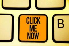 Teksta znaka seans Klika Ja Teraz Konceptualnej fotografii pomagać biurka Internetowa prasa guzik Online ikony Nertwork pomarańcz ilustracja wektor
