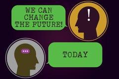 Teksta znaka seans Możemy Zmieniać przyszłość Konceptualna fotografia Robi akcjom dokonywać różnego rezultat motywacji gona ilustracji
