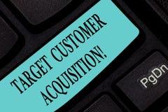 Teksta znaka seansu celu klienta nabycie Konceptualna fotografia Namawia konsumenta kupować firmy s jest dobra zdjęcie royalty free