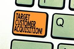 Teksta znaka seansu celu klienta nabycie Konceptualna fotografia Namawia konsumenta kupować firmy s jest dobra zdjęcie stock