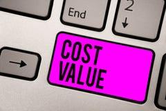Teksta znaka seansu kosztu wartość Konceptualna fotografia kwota która zazwyczaj płacił dla rzeczy ty kupujesz lub zatrudniający  obrazy stock