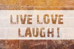 Teksta znaka seansu miłości Żywy śmiech Konceptualna fotografia Był inspirującym pozytywem cieszy się twój dni śmia się dobry hum ilustracja wektor