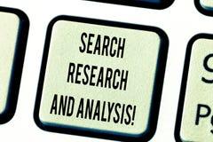 Teksta znaka seansu rewizji analiza I badanie Konceptualnych fotografii dochodzenia dane informacji analityka Klawiaturowy klucz fotografia stock