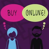 Teksta znaka seansu zakup Online Konceptualnej fotografii elektroniczny handel który pozwoli konsumentów bezpośrednio kupować tow ilustracja wektor