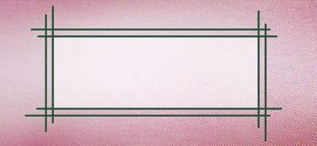 Tekstframe op roze doektextuur stock illustratie