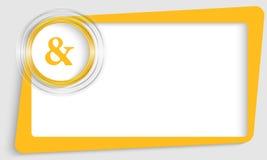 Tekstkader en transparante cirkel met ampersand stock illustratie