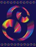Tekstmalplaatje van kleurrijk spiraalvormig elementenontwerp Royalty-vrije Stock Afbeeldingen
