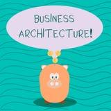 Tekstteken die Bedrijfsarchitectuur tonen Conceptuele foto Grafische vertegenwoordiging van zaken modelcolor speech royalty-vrije illustratie