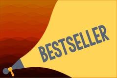 Tekstteken die Best-seller tonen Het conceptuele die product van het fotoboek in grote aantallen Succesvolle literatuur wordt ver stock illustratie