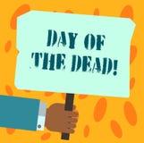 Tekstteken die Dag van de Doden tonen Conceptuele foto Mexicaanse viering die het tonen eren dat de analysehand van HU is verdwen vector illustratie