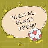 Tekstteken die Digitale Klassenzaal tonen Conceptuele foto waar studenten het leren en interactie met instructeur Soccer royalty-vrije illustratie