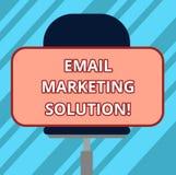 Tekstteken die E-mail Marketing Oplossing tonen Conceptuele foto die klanten helpen om hun problemen Lege Rechthoekige Vorm op te royalty-vrije illustratie