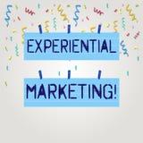 Tekstteken die Ervarings Marketing tonen Conceptuele foto marketing strategie die direct consumenten Twee Kleur in dienst neemt stock illustratie