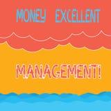 Tekstteken die Geld Uitstekend Beheer tonen Conceptuele foto hoe u alle aspecten van uw financiën Halftone Golf behandelt vector illustratie