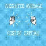 Tekstteken die Gewogen gemiddelde kostprijs van Kapitaal tonen Het conceptuele van bedrijfs fotowacc financiële indicatoren Trekk stock illustratie
