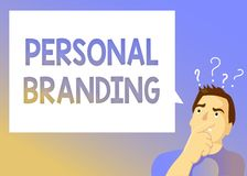Tekstteken die het Persoonlijke Brandmerken tonen Conceptuele foto die en hun carrières op de markt brengen als merken vector illustratie