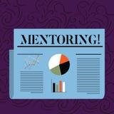 Tekstteken die Hoede tonen Conceptuele foto om advies of steun aan het jongere minder ervaren aantonen te geven vector illustratie